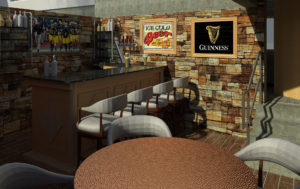 Bar in storm shelter